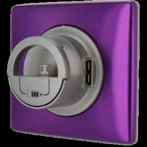 Celiane GNIAZDO 2 x USB SMARTFON TYTAN PURPURA